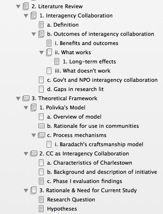 Lit Review Theo Framework Outline